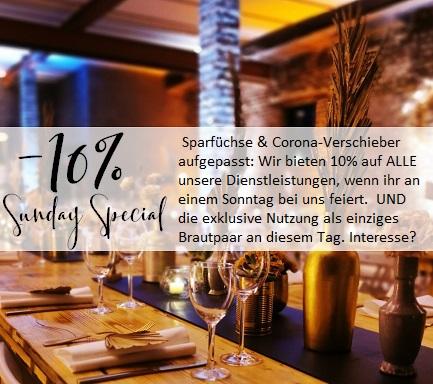 Q-Stall 10% Hochzeit location Köln